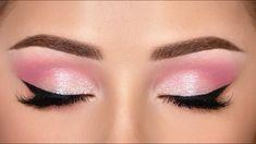millieleer tiktok dark eye makeup - Google Search Pink Eye Makeup Looks, Pink Eyeshadow Look, Pink Smokey Eye, Natural Smokey Eye, Simple Eye Makeup, Pink Makeup, Natural Makeup, Easy Makeup Looks, Makeup Shayla