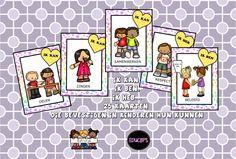 affirmatiekaarten ik kan, ik ben, ik heb..  25 kaarten die de kinderen bevestigen in hun kunnen van katrotje