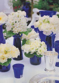 cobalt blue wedding centerpieces - Google Search
