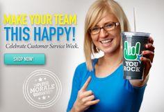 Make you team this happy! Celebrate Customer Service Week!