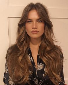 Stormi Bree long hair blowout with waves and soft loose curls hair style Loose Curls Hairstyles, Pretty Hairstyles, Hairstyle Men, Funky Hairstyles, Formal Hairstyles, Long Hair Loose Curls, Blowout Hairstyles, Wedding Hairstyles, Hair Day