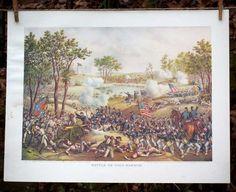 "Battle of the Civil War ""Battle of Cold Harbor"" Kurz & Allison Lithograph Battle Of Cold Harbor, Bourbon And Boots, American Civil War, Wood Print, Civilization, Vintage Posters, Fine Art America, Art Pieces, Canvas Prints"