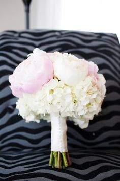 My two favorite flowers: Peonies and Hydrangeas bouquets for the girls, but purple or green instead of pink