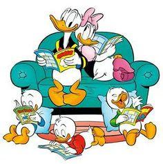 Donald, Daisy,and nephews
