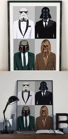 Star Wars Characters Wall Art - Star Wars Wall Art #starwawrs #art #wallart