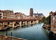 [The Kolk, Rotterdam, Holland] Holland, Most Beautiful Cities, Tower Bridge, Old Pictures, Wwii, Places To See, Dutch, World, Photography