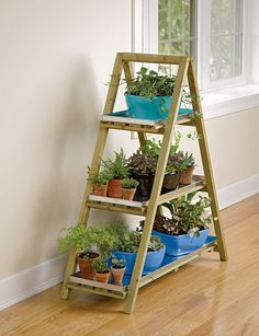 Free woodworking plans to build an a frame plant stand plant - Ladder plant stand plans ...