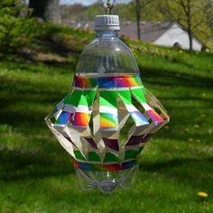 Recycled Plastic Bottle Wind Spinner #PlasticsInTheGarden