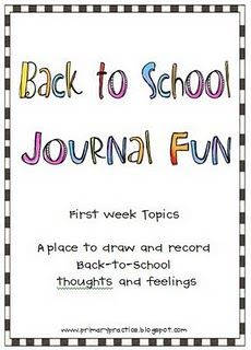 Journal prompt booklet, perfect for simple drawing and writing response.