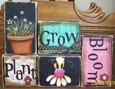 Spring Decor  Plant Grow Bloom Spring Sign by PunkinSeedProduction, $36.00