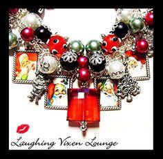 Christmas Jewelry - Christmas Bracelet - Retro Santa Christmas Charm Bracelet - Santa Jewelry - Santa Bracelet - Holiday Jewelry Bracelet