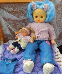 Вязаный домик.: Джинсы для куклы Ариши и еще куклы.