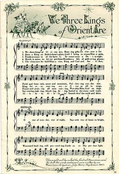 ♥ Sheet Music Printables for gift wrapping, or DIY Paper Projects .... We 3 Kings by raidensgrammie21, via Flickr