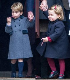 Prince George with sister, Princess Charlotte