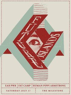 Future Islands poster. very much in love with this band right now