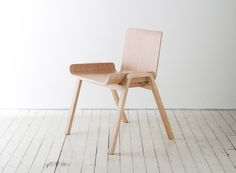 This chair designed by Seungji Mun is made from a 4 x 8 sheet of plywood with zero wasted material. Beautiful object + compelling story = good design.