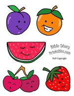 Fruit of the Spirit Bible Craft (lots of printables on this page)