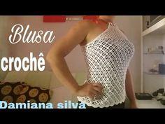 Blusa de crochê (ana) - YouTube