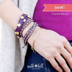 New Crystal Wraps, Available Now!  http://SouthHillDesigns.com/TammyTamayo