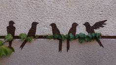 Pájaros de casa, hechos por mi papá