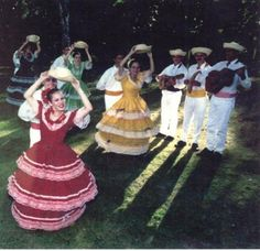 Popular Activity:  Puerto Rican dances often include women wearing large dresses and men wearing white suits.