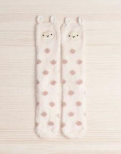 Fuzzy Llama stockings