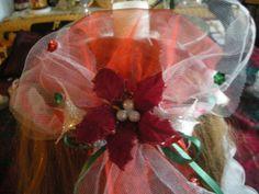 Princess headpiece and wand, Christmas princess, Princess,Headband,Head piece,Christmas,Flower girl,wedding,wand,Holiday gift, gift,children, Handmade by CelinaRoseDesigns on Etsy, $15.00
