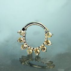 14K GOLD Septum Symetry Curved by Hindged on Etsy, $237.27