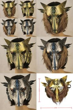[Visit to Buy] 1 Pcs Halloween Party Masks Masquerade Full Face PVA Werewolf Mask Cosplay Festival Party Supplies #Advertisement