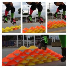 The evolution of jumping in roller derby ! Going to do this with the juniors!