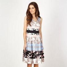 Principles by Ben de Lisi Designer blue floral striped prom dress- at Debenhams.com