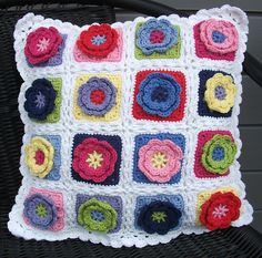 Ravelry: Project Gallery for Flower square pattern by Beata Basik