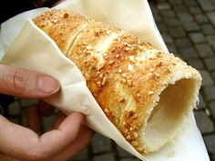 Trdelnik II - traditional Slovak sweet pastry with walnuts & vanilla