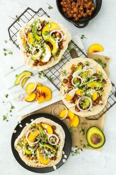 Turn up the heat with this Barbecue Chickpea Flatbread Pizza recipe.