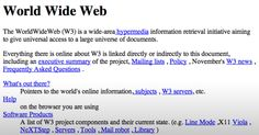 20 Years Ago Today, The World's First Website Went Live; And Now It's Back - http://www.gearfuse.com/20-years-ago-today-the-worlds-first-website-went-live-and-now-its-back/