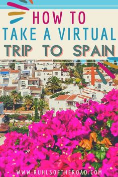 How to take a virtual trip to Spain! Use these travel tips and tricks for how to travel while you are stuck at home or bored at home. Fuel your wanderlust and experience Spanish architecture, Spanish food, Spanish wine and Spanish culture even when you can't travel. Spain is an amazing place to go in Europe and full of amazing food, people, architecture, sites and more. Travel to Spain and enjoy a Europe trip while at home with these virtual travel tips and tricks.  #virtual #travel Europe Travel Guide, Spain Travel, Travel Guides, Sweden Travel, Traveling Tips, Budget Travel, Tips And Tricks, Backpacking Spain, Spanish Wine