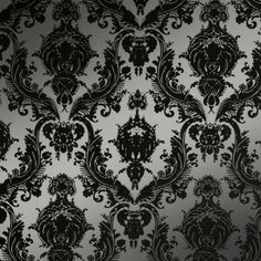 Damsel Metallic Silver wall paper for a dramatic feature wall