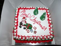 Completed Santa cake