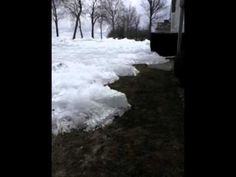 A spectacular video from Mille Lacs Lake in Minnesota demonstrates the incredible capabilities of nature.  The footage is of snow getting pu...