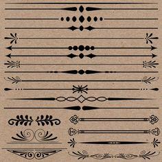 Page Dividers Clipart. Can be used in any project that you can imagine! These items have a smooth finish. You can find a distressed