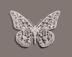 cut paper butterfly by Bovey Lee