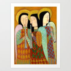 three angels Art Print by Rose Walton - $32.48