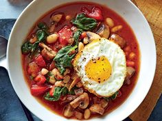 White Bean & Vegetable Bowls with Frizzled Eggs   When the air is crisp and the leaves start to fall, you'll love recipes that showcase the season's best flavors. The smell of apples and pumpkin spice might be in the air, but it's fall recipes we're craving. These fresh autumn recipes feature the best of fall flavor and produce. Savory sides, fruity desserts, and all things warm and cozy combine to make us crave fall recipes like crazy. Plan your perfect fall menu this weekend, and dig in.