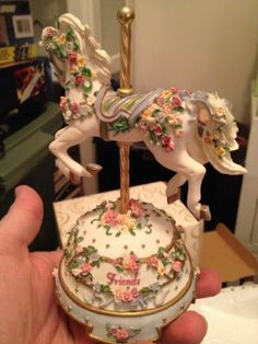 "San Francisco Music Box Company Carousel Horse Music Box Friends 4"" | eBay $10"