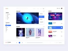 Music for mac(Daytime mode) by ZhaoWei for NICE 100 on Dribbble Dashboard Ui, Dashboard Design, App Ui Design, Interface Design, User Interface, Flat Design, Desing Inspiration, Application Design, Ui Web