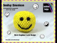 Rainbow Loom 3D Amigurumi/Loomigurumi Smiley Emoticon Ball - Hook only design (Loomless/loom-less)