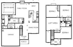 2 Story Home Design Plans with 4 Bedrooms