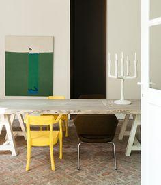 Comedor artístico #comedor #diningroom #madera #wood #color #colour