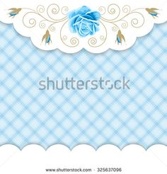 Background with hand drawn roses and golden curly design element in retro style. Greeting card, invitation template. Vector illustration - stock vector