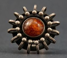Vintage Baltic Amber Silver Ring, Poland ORNO Modernist 800 Silver Ring Description: This beautiful ring came from an older private estate. It is marked ORNO with a couple of Polish hallmarks. Jewlery, Silver Jewelry, Vintage Silver Rings, Baltic Amber, Beautiful Rings, Brooch, Dom, Couple, Stone Rings